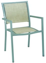 Белый пластиковый ткань серебристый порошковое сад стул алюминиевый зимний сад мебель