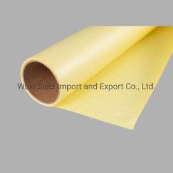 50mic90g mat à finition brillante Plastification à froid/film avec doublure jaune pour matériel d'impression