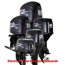 6 - 60HP電気燃料の注入の船外モーター(2005年以来の中国の最もよく及び最も大きい船外モーターメーカー)