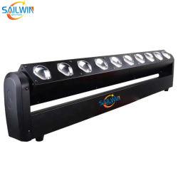 새로운 10개의 LED 40W RGBW 4in1 RDM LED 픽셀 이동 헤드 빔 벽 와셔 조명