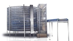 Pan de panadería industrial de la torre de enfriamiento en espiral cinta transportadora para la cocción de alimentos