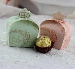Timbre d'or Die- Couper cadeau de mariage de la Couronne Candy Box
