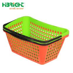 슈퍼마켓 식료품 가게, 인체공학적으로 설계된 아크 모양의 친환경 플라스틱 손 장바구니