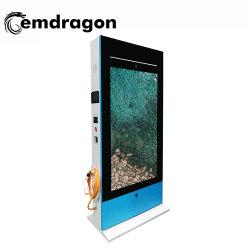 65 polegada aluguer a carregar a pilha publicidade exterior máquina LCD vídeo LED Player Digital Signage lobby de hotel publicidade LCD Digital Signage LCD