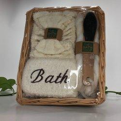 2021 onlangs Set Hemp Bath van het dossier van de voet met Willow Basket