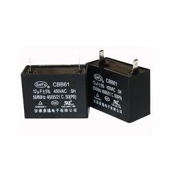 12UF 450VCA CBB61 Condensador para motor AC Estuche de plástico
