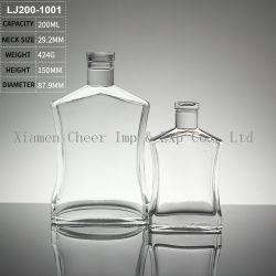 bottiglie di vetro del liquore della boccetta Hip 200ml