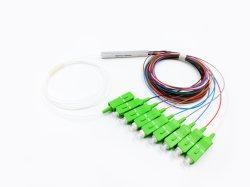 1X8 0.9mm Цвет кабеля кабель sc/APC Blockless мини оптоволоконный PLC разветвителя