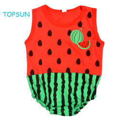 Europeu e americano das crianças do bebê Verão triângulo sem mangas Garment Superman Cartoon puro algodão-piscina ou produtos de exterior de vestuário