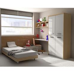 أسلوب [نورديك] حديثة جدي غرفة نوم مع [وردروب&وريتينغ] مكتب جدي أثاث لازم خشبيّة