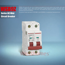 Миниатюрный литые случае постоянного тока воздуха отключающая способность 6 ка 10ка вакуумный электрический выключатель миниатюрный прерыватель цепи (WSB9Z) MCB