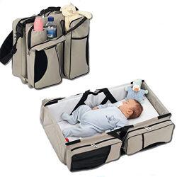 남녀 공통 선전용 Foldable 아기 여행 침대 핸드백 자기 기저귀 부대