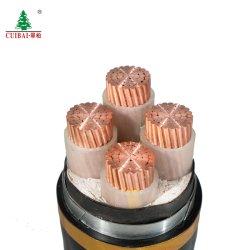 Faible Moyenne tension Gaine en PVC d'isolation en polyéthylène réticulé Veste conducteur cuivre aluminium Sta/swa blindé en acier/fil électrique électrique des câbles blindés Câble d'alimentation