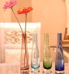 Décoration d'accueil de gros d'usine de petits cristaux de mariage claire Art Glass Vase de fleurs