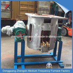 Inducción de frecuencia media para el horno de fundición de chatarra de acero Gw-500