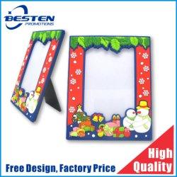 Logotipo personalizado crianças Picture Frame Cartoon PVC maleável Photo Frame