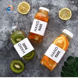 Venda por grosso de 350ml claro Praça Francesa Kiwi suco de frutas garrafa de vidro Copo com tampa anti-roubo