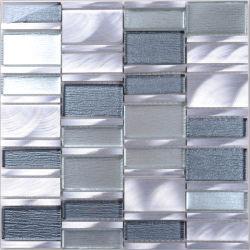 Modern Stijl Glas Mix Aluminium Custom Mosaic Tegel Backsplash