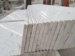 Corte-a-Azulejos de tamaño de las venas recta Windowsill de mármol blanco