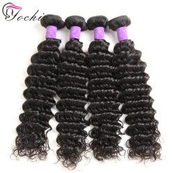 Onda profunda cabelo peruano de tafetá verdadeiro 100% Remy de cabelo humano Extensions Barato Cor Natural Virgem de cabelo humano da trama