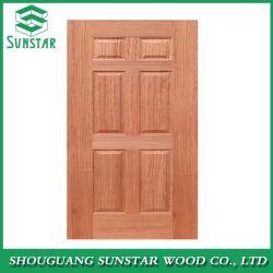 Модный интерьер шпона ламината HDF меламина деревянные двери кожи