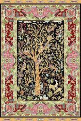 Le turc tapis noués à la main de la Soie Soie Oriental Rug Seide Teppich 62cmx93cm