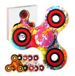 OEM 印刷 Tri-Spinner Fidget Toy Plastic Hand Spinner