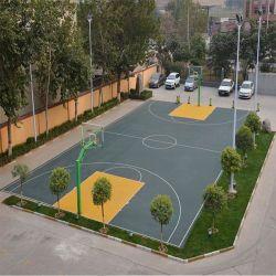Pp sospesi pallacanestro che collegano la pavimentazione delle mattonelle