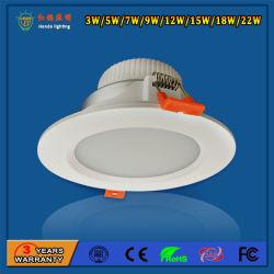Parque de Atracciones SMD de 9W Downlight LED de aluminio blanco