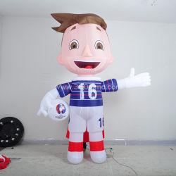 Best Selling Adult Animal Football Player Character Inflatable Mascot Kostuum Te Koop