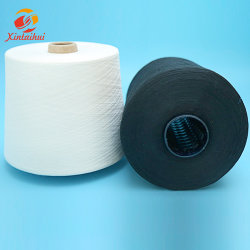 30s/2 de maagdelijke Ruwe Witte Gesponnen Ring van het Garen van de Polyester van 100%