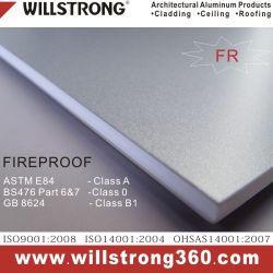 5mm revestido de PVDF Painel Composto de alumínio à prova de cor metálica prateada