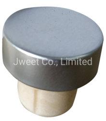 Fabrik-Großhandelsqualitäts-synthetischer Stopper mit Aluminiumschutzkappe