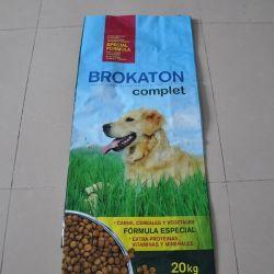 Prix bon marché l'impression couleur BOPP Film d'alimentation chien 30kg PP sac tissé de haute qualité
