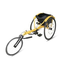 La formación de tres ruedas de aluminio ligero de la velocidad de acero sillas de ruedas plegable de potencia eléctrica Manual de ocio y deportes silla de ruedas