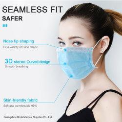 不織布ボディ保護イヤループ呼吸 3 プライ保護用ディスポーザブルフェース マスク( Mask )