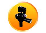 """Rmf-Z-20A G3/4"""" el cuerpo de aluminio color negro de la válvula de inyección de pulso"""