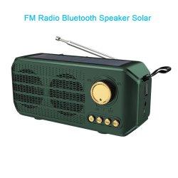 Установите флажок звука 2.1 Солнечная панель функции портативного беспроводного аудио Открытый Bluetooth активно звука с FM громкоговоритель DJ сабвуфер Tablet динамик