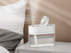 再充電可能で涼しい霧のファン加湿器の超音波携帯用小型加湿器