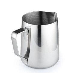 Acero inoxidable olla la leche y café de la Copa de espuma de la lanzadora/Creamer lanzador tire de la Copa de la flor