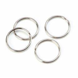 Никелированные металлические Split ключ кольца основную часть на брелке ключа и художественных ремесел