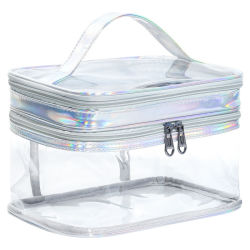 شعار الجملة المخصص أزياء صغيرة مخصصة PVC كيس تجميلي صنع حقيبة لأعلى حقيبة حقيبة تجميل حقيبة ماكياج حقائب التجميل