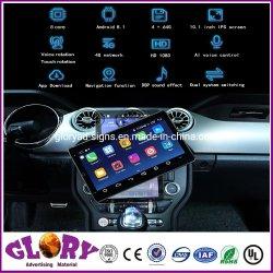 10.1 pulgadas de Ai el Control de voz que se puede girar Gran Pantalla capacitiva IPS estéreo para coche para vehículo Mustang