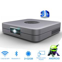 D1 projecteur DLP 3D 300pouces Support Home Cinema Full HD 1920 x 1080p, 32GB Android 5g vidéo AC3 WiFi Beamer mini projecteur