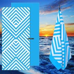 منشفة رياضية للسفر مطبوعة على الشاطئ الرقمي