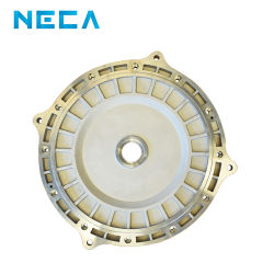 hecho personalizado la tapa del motor de aluminio mecanizado CNC