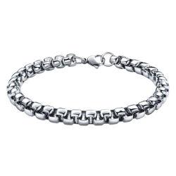 Золото Бижутерия ожерелья квадратных Belcher цепь из нержавеющей стали для мужчин браслет для пульта управления