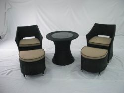 Le rotin /mobilier extérieur (GET-1010)