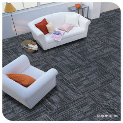 Solution tapis de plancher teints Matériau en polypropylène pour tapis touffetés résidentiel de la machine PVC Plaine boucle arrière Tapis velours de tapis salle de séjour Hôtel Bureau