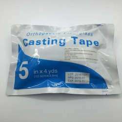 5inch運動ガラス繊維の整形外科の鋳造テープへの2inch